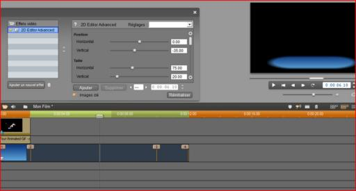 Key frame animation in Pinnacle Studio video effects